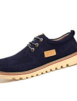 Men's Flats Spring / Fall Comfort / Round Toe / Flats Suede Casual Flat Heel Gore Blue / Yellow / Gray