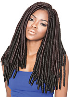 Havana Mambo Twist / Crochet Braids Dread Locks Hair Extensions 18Inch Kanekalon 20 Strand Dark Brown Hair Braids