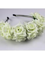 Dame / Blomsterpige Stoff Headpiece-Bryllup Pannebånd 1 Deler Lilla / Blå / Rosa / Rød / Beige Blomst 60cm