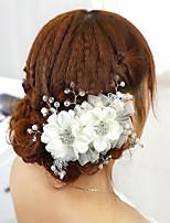 Vrouwen Stof Helm-Bruiloft Haaraccessoire 1 Stuk Rood / Wit Bloem 15cm