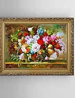 HD Print Classical Flower Painting Mediterranean Sea Landscape with Stretched Delicate Framed