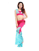 Belly Dance Outfits Women's Training Polyester Ruffles 2 Pieces  Belly Dance