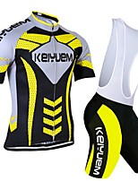 KEIYUEM® Summer Cycling Jersey Short Sleeves + BIB Shorts Ropa Ciclismo Cycling Clothing Suits #K106