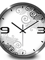 Black And White Flowers Home Furnishing Decorative Wall Stickers Mute Garden Wall Clock