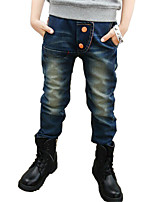 Boy's Cotton Spring/Fall Hot Sale Geometric Mid Kids Trousers Children's Jeans
