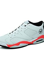 scarpe da donna pu primavera / caduta scarpe da ginnastica di moda di comfort atletiche altri piani del tallone nero / bianco / bianco e