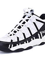 Women's Spring / Summer / Fall Comfort PU Athletic Flat Heel Black / White