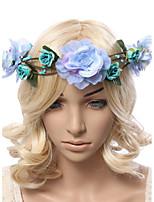 Dame Polyester / Stoff Headpiece-Bryllup / Spesiell Leilighet / Utendørs Kranser 1 Deler Multi-farge Blomst 28-33cm