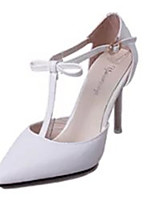 Women's Heels Summer Heels PU Casual Stiletto Heel Buckle Pink / White Others
