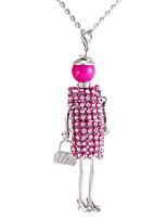 Fashion Girl Dolls Rhinestone Necklaces Sweater Chain