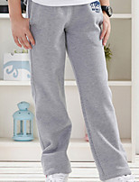 Boy's Casual/Daily Solid Pants,Cotton Winter / Spring / Fall Black / Gray