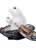 Resin Rabbit Micro Landscape Decoration Boat Rabbit