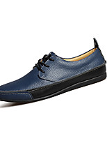 Men's Shoes Cowhide Casual Flats Casual Walking Flat Heel Others Blue / Brown / Yellow