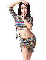 Belly Dance Outfits Women's Training Viscose Pattern/Print 2 Pieces