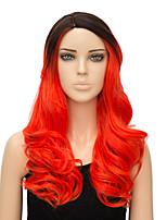 cosplay mode européenne et américaine 1b / rouge moyen perruques frisées cosplay perruques synthétiques