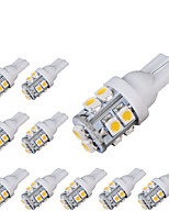 10pcs T10 10SMD 3528 White Car Auto LED Light Bulb Lamp(DC12V)