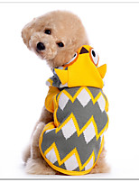 Cat / Dog Costume / Sweater Yellow Winter / Spring/Fall Animal Cosplay / Halloween, Dog Clothes / Dog Clothing