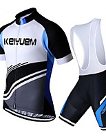 KEIYUEM® Summer Cycling Jersey Short Sleeves + BIB Shorts Ropa Ciclismo Cycling Clothing Suits #K93