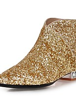 Women's Shoes Glitter Fashion Boots / Pointed Toe Boots Party & Evening / Dress / Casual Chunky Heel
