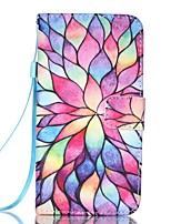 EFORCASE® Lotus Painted Lanyard PU Phone Case for LG K10/K8/K7/K4/G5