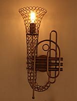 Amercian campo industrial de la lámpara de pared de la vendimia saxofón decorar para la luz de la sala de café / bar / pared rooom