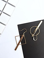 Earring Geometric Drop Earrings Jewelry Women Fashion Daily Alloy 1 pair Gold