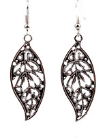 Personality Retro Folk Style Hollow Leaves Carved Earrings