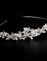 Women's Rhinestone / Alloy / Imitation Pearl Headpiece-Wedding Headbands 1 Piece Silver