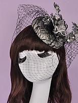 Dame / Blomsterpige Bomull Headpiece-Bryllup / Spesiell Leilighet fascinators 1 Deler 15*15cm