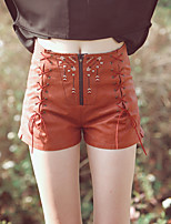 Aporia.As® Women's Mid Rise Shorts Brown Casual Pants-mz11013