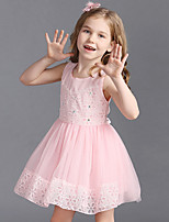 Girl's Cotton Summer Sweet Style Gauze Flower Princess Dress