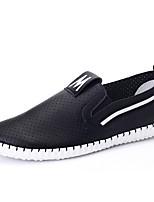 Femme-Bureau & Travail / Décontracté / Soirée & Evénement-Noir / Blanc / Orange-Talon Plat-Confort-Sneakers-Cuir Nappa