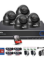 SANNCE® 4CH 720P DVR Surveillance System1280*720P Outdoor Security Cameras Maximum IR Distance (30m) Built-in 1TB HDD
