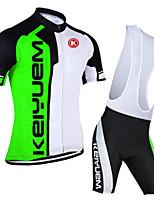 KEIYUEM® Summer Cycling Jersey Short Sleeves + BIB Shorts Ropa Ciclismo Cycling Clothing Suits #K110