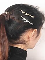 Femme Alliage Casque-Occasion spéciale / Décontracté / Extérieur Barrette / Pique cheveux / Epingle à Cheveux 1 Pièce Or Irrégulier 6