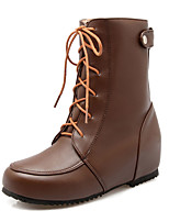 Women's Shoes  Fall / Winter Wedges / Riding Boots Boots Outdoor / Office & Career / Casual Low Heel Lace-upBlack /507