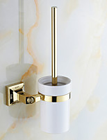Toilet Brush Holder / Polished Brass / Wall Mounted /20*10*37 /Brass /Antique /20 10 1.136