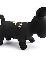 Chat / Chien T-shirt Noir / Café Eté / Printemps/Automne Floral / Botanique Mode, Dog Clothes / Dog Clothing-Other
