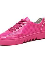Da donna-Sneakers-Casual-Punta arrotondata-Piatto-Tessuto / PU (Poliuretano)-Rosso / Bianco / Verde chiaro