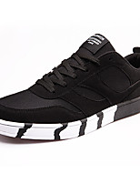 Men's Spring / Fall Tulle Casual Flat Heel Others Black / Blue / Black and Red Sneaker