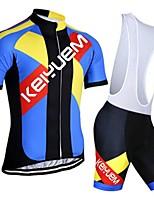 KEIYUEM® Summer Cycling Jersey Short Sleeves + BIB Shorts Ropa Ciclismo Cycling Clothing Suits #K98