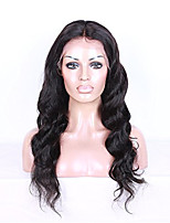 8A Brazilian Human Hair Lace Front Wig Natural Color Body Wave 130% Density with Baby Hair
