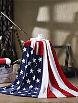 The American Flag USA Super Soft Flannel Blanket  W59