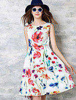 Maxlindy Women's Going out /Cocktail / Holiday Vintage / Street chic / Sophisticated Floral A Line Dress