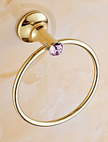 Towel Ring / Polished Brass / Wall Mounted /20*15*20 /Brass /Contemporary /20 15 0.225
