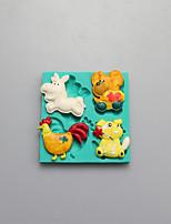 animais moldar moldes de chocolate de silicone, moldes de bolo, moldes de sabão, ferramentas de decoração bakeware