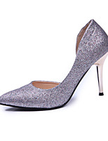 Women's Heels Summer Heels Stretch Satin Casual Stiletto Heel Sequin Blue / Red / Gray Others