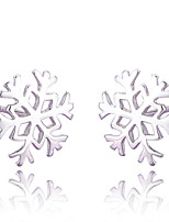 Silver Hexagonal Snowflakes Fashion Hypoallergenic Earrings