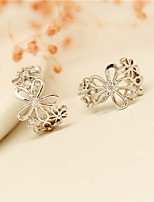 Earring Flower Jewelry Women Fashion Daily / Casual Alloy 1pc Gold / Silver