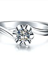 Ringen Dames Bergkristal Zilver / Platina Verguld Zilver / Platina Verguld 4.0 / 5 / 6 / 7 / 8 / 8½ / 9 / 9½ Zilver